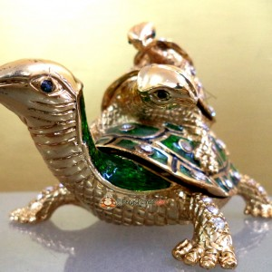 Bejeweled Turtle Family