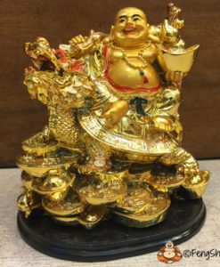 Laughing Buddha on Dragon Turtle