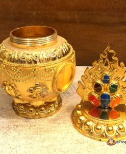 Eight Auspicious Symbols Feng Shui Wealth Vase