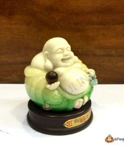 Moon-Stone Laughing Buddha for Peace