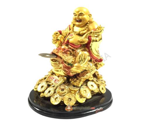 Laughing Buddha on 3 Legged Wealth Frog