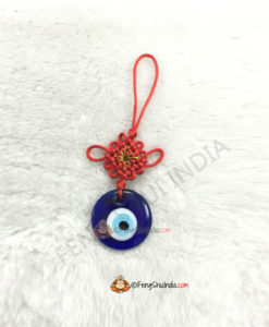 Mystic Knot with Evil Eye Hanging