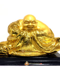 Laughing Buddha with 8 symbols of Wealth