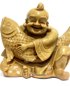 Laughing Buddha with Wealth Carp Fish