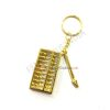 Feng Shui Golden Abacus Keychain