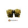 Pair of Elephants-Trunk Upwards