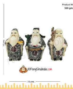 Fuk, Luk & Sau are popularly known as the Three Chinese Gods